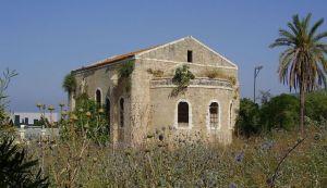 L'église à al-Bassa, comme illustré en 2008. Photo via Wikipedia commons.
