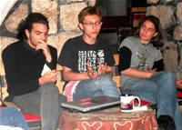 Les trois jeunes objecteurs de conscience israéliens durant l'interview