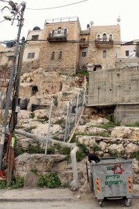 Silwan, chantier de fouilles sous les maisons © Julie Couzinet, mai 2014.