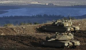 Chars israéliens - plateau du Golan