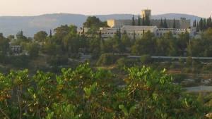 A mi-chemin entre Tel Aviv et Jérusalem se trouve le monastère Notre Dame de l'Assomption, Bet Gemal, Israël.