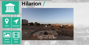 Site du monastère saint Hilarion, dans la bande de Gaza, sur appli Kanaan (capture d'écran) - See more at: http://www.mondedelabible.com/une-appli-pour-decouvrir-le-patrimoine-palestinien/#sthash.NcagErW0.dpuf