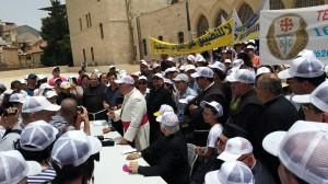 Manifestation écoles chrétiennes Jérusalem