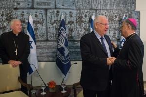 Fouad et le Président Israëlien