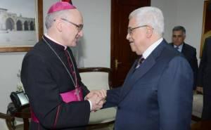 Mgr Lazzarotto Avec-Mahmoud-Abbas