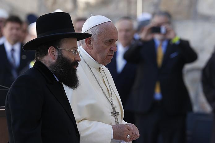 Pape François Rabbin Shmuel Rabinovitch  Mur des lamentations