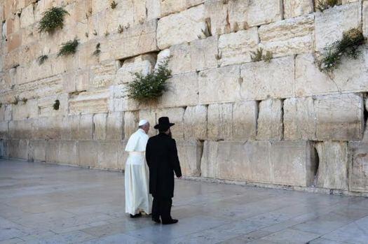 Pape François Rabbin Mur des lamentations