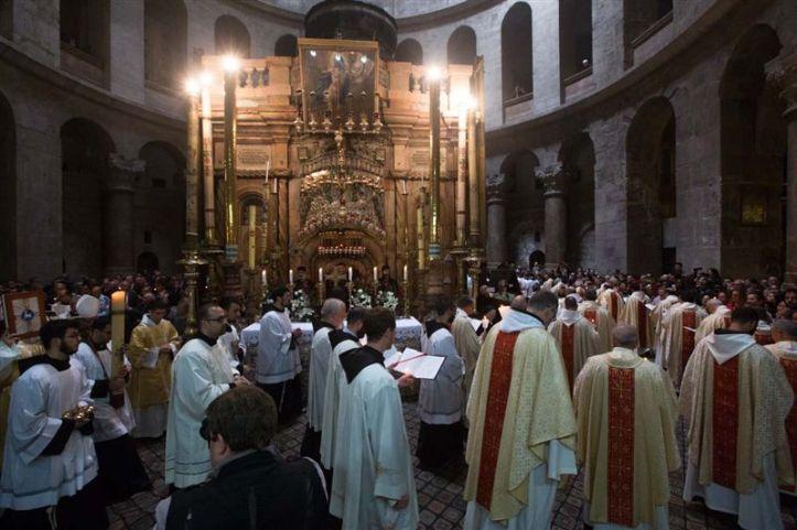 Saint sépulcre - Messe résurrection - Pâques 2016