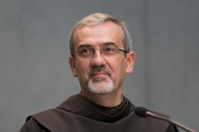 Roma, 6 giugno 2104. Sala Stampa Vaticana. Il breafing di presentazione dell'incontro di preghiera con Padre Pierbattista Pizzaballa.
