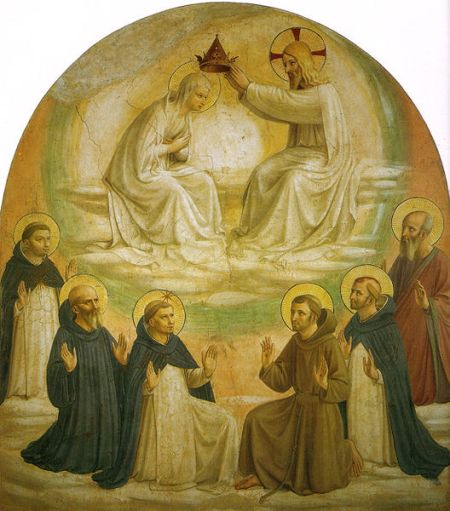 Fra Angelico, Le couronnement de la Vierge Cellule 9